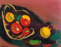 cesto di frutta secca, noci con datteri by attilio alfieri