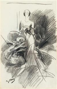 etude pour le portrait de madame doyen (study) by giovanni boldini