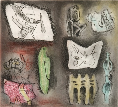 sculptural ideas 3 by henry moore