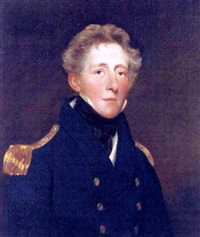 portrait of a gentleman (captain thomas wren carter?) by john jackson