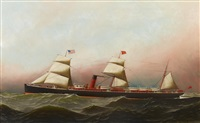 the r.m.s. gallia of the cunard line at sea by antonio jacobsen