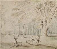 the deer park of the château of mariemont by jan brueghel the elder