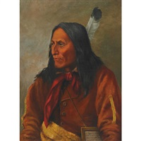 chief crowfoot, blackfoot by henry metzger