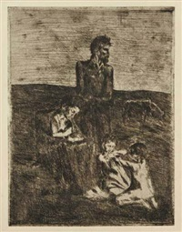 les pauvres by pablo picasso