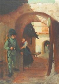 abschied im votivbogen by georg überbacher