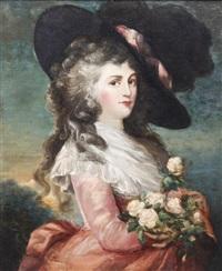 portrait of a lady by gainsborough dupont