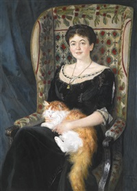portrait of a lady by nikolai petrovich bogdanov-bel'sky