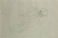 säugling von den händen der mutter gehalten by käthe kollwitz