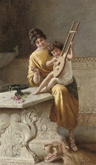 a young musician by emmanuele costa