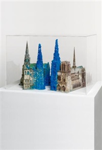 copper sulphate chartres & copper sulphate notre-dame by roger hiorns
