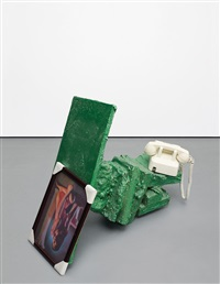 untitled (green phone) by rachel harrison