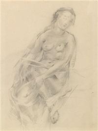 studies of a nude (+ another; 2 works) by natalia agapieva-zakharova