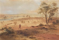 view of parramatta by samuel thomas gill