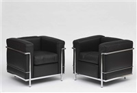sessel lc2 (pair) by le corbusier