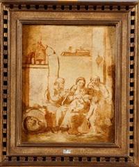 la sainte famille (sketch) by johann liss
