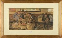 personnages caricaturaux sur le quai de la gare by jules de bruycker