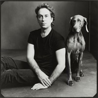 william wegman with man ray by annie leibovitz