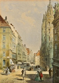 stephansplatz in wien by johann wilhelm frey