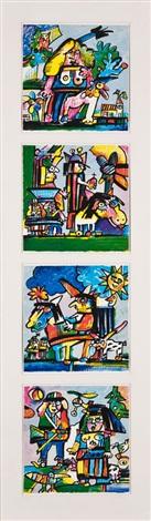 vier grafiken (4 works) by otmar alt