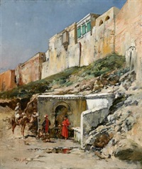 at the well by victor pierre huguet