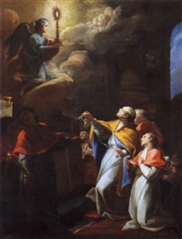 visione di san tommaso d'aquino by gregorio guglielmi