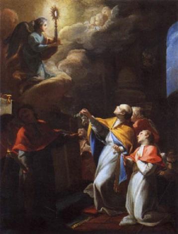 visione di san tommaso daquino by gregorio guglielmi
