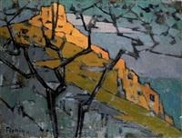 paysage à capri by frederic fiebig