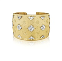 gold and diamond cuff by buccellati