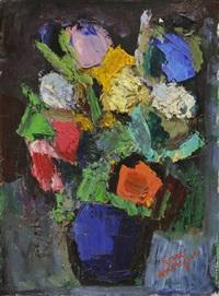 nature morte au bouquet de fleurs by pierre ambrogiani
