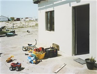 on the stoep, hondeklipbaai, northern cape, 13 september by david goldblatt