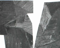 angular diptych by louise fishman