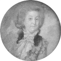 portrait einer rokokodame im hellblauen kleid by conrad geiger