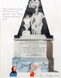 monument to the 2nd lord sherborne by rysbreck 1749, st mary magdalene, glos by paul hogarth