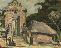 an indonesian temple gate by charles sayers