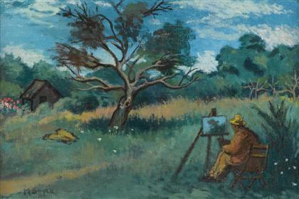 david burliuk painting the impressionist by moses soyer