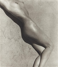 carrie in sand (detail), paradise cove by herb ritts
