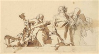 frise de personnages by giovanni battista tiepolo