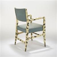 armchair by gio ponti and piero fornasetti