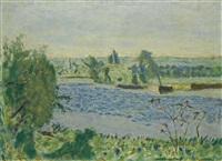matin bleu ou petite rivière by pierre bonnard