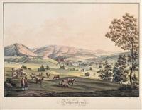 heiligenkreuz / herzogburg / medling by anton (edler von felsenthal) koepp