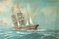 trois-mâts vu par bâbord by georges fouille