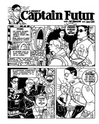 captain futur, planche 28 by serge clerc