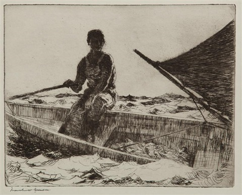 dory fisherman by frank weston benson