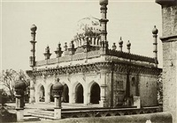 mosque of the ibrahim rauza, bijapur by thomas biggs