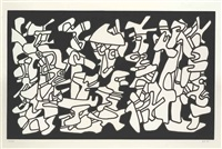 evocations (from fables) by jean dubuffet