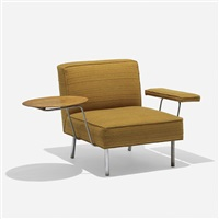 rare lounge chair, model 5071 by george nelson & associates