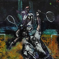 the tennis match by david gordon hughes
