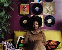 afro goddess lover's friend by mickalene thomas