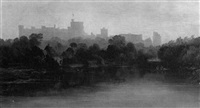 windsor castle from the river by s.r. allan