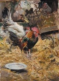 coq et poules by giovanni boldini